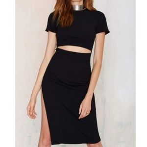 Nasty Gal Visionary Cut Out Dress Small EUC